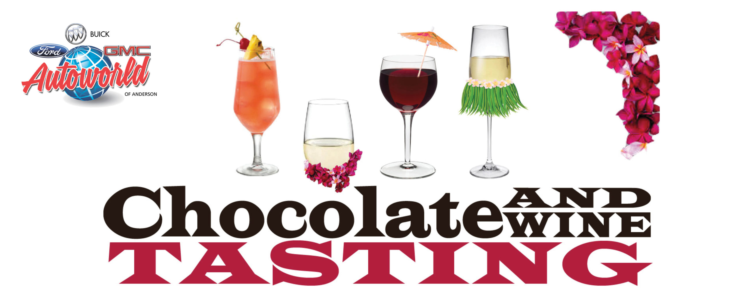 Web banner – chocolate and wine